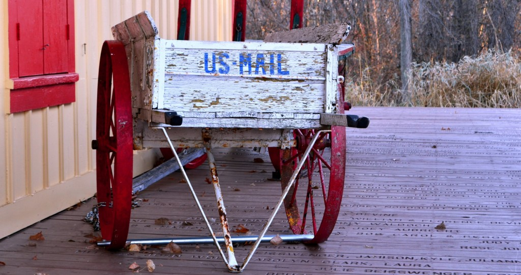 Antique Mail Cart